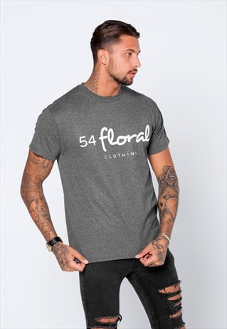 CORE LARGE GRAPHIC T-SHIRT - HEATHER CHARCOAL