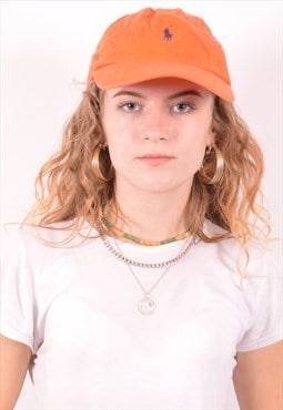 Polo Ralph Lauren Womens Vintage Cap One Size Orange 90s