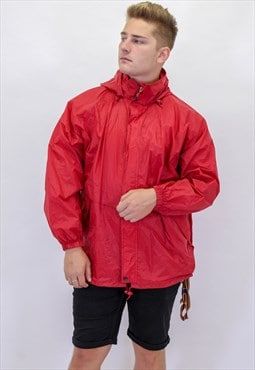 Vintage KWAY Windbreaker Jacket in Red