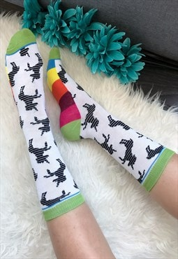 Multi-Coloured Unicorn Ankle Socks