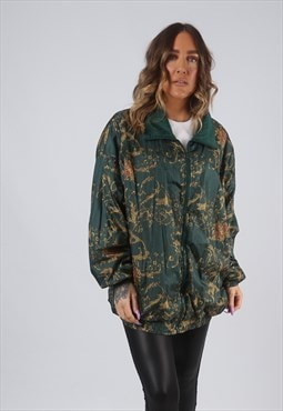 Shell Bomber Jacket Print Oversized Patterned UK 18 (CKBF)