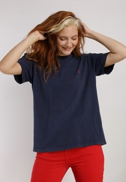 Vintage Ralph Lauren T-shirt Blue Z1092