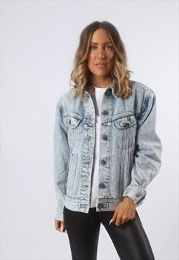 LEE Denim Jacket Oversized Fitted ACID WASH UK 14 (BF4P)