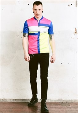 Vintage 80s Bold Colourblock Sports Top