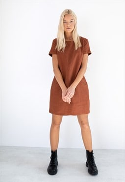 BEATRICE Linen Dress / Casual Summer Mini Dress