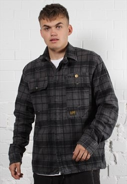 Vintage G-Star Jacket in Check w/ Spell Out Logo