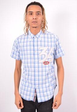 Vintage Guess Shirt Check Blue