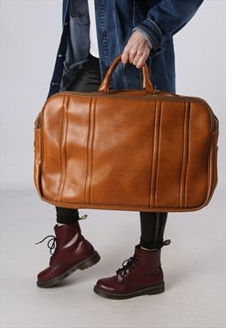 Vintage Large Weekend Holdall Leather Bag  (GA4B)