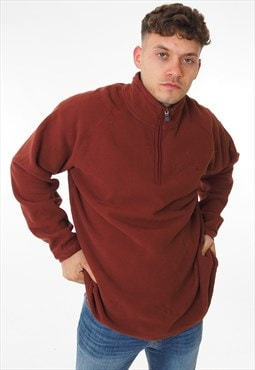 Vintage The North Face 1/4 Zip Sweatshirt Red