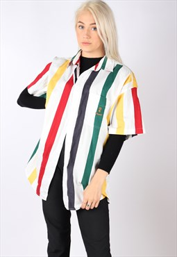 vintage TOMMY HILFIGER shirt candy striped oversized L