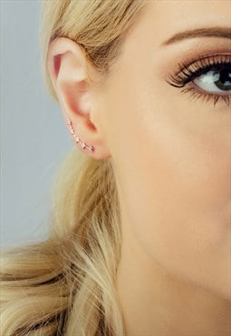 Rose Gold Plated Five Little Stars Ear Climber
