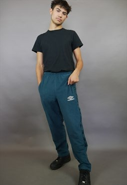 Teal Umbro Taped Joggers Trackies