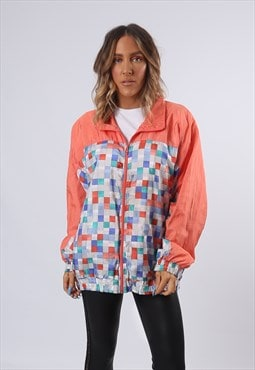 Shell Bomber Print Jacket Oversized Patterned UK 16 (BF2D)