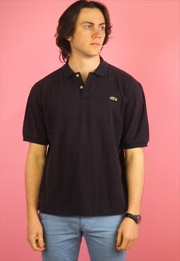 Blue Lacoste Vintage Polo T shirt