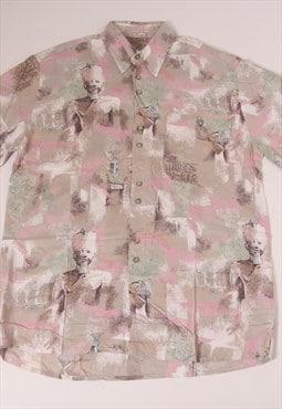 70s Rinaldo Designers Abstract Egypt Art Shirt