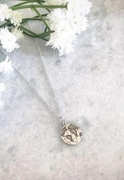 Sterling Silver Dainty Globe Necklace