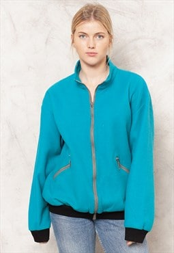 Blue Fleece Jacket Jumper