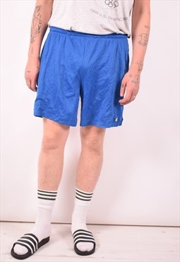 Champion Mens Vintage Shorts Large Blue 90s