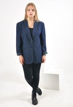 Vintage blazer jacket in navy