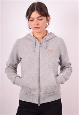 Nike Womens Vintage Hoodie Jacket Small Grey 90s