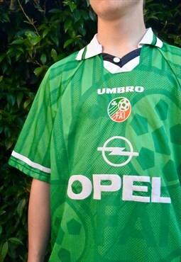 RARE Vintage 90s Umbro Ireland Football shirt top 98-00