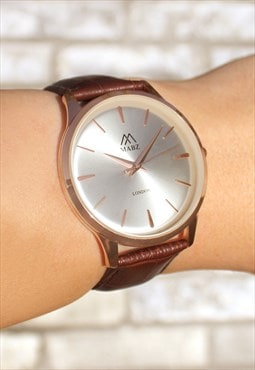Classic Slim Rose Gold Watch
