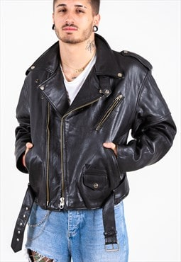 Vintage 80s Leather Jacket / S6935