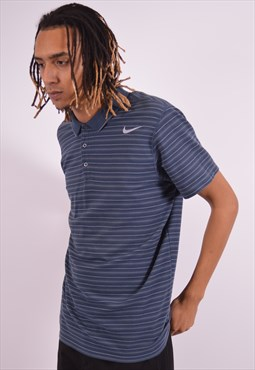Nike Mens Vintage Polo Shirt XL Blue 90s