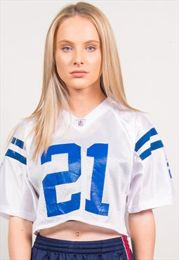 NFL Cropped Jersey Sports Top Indianapolis Colts