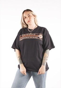 Vintage Harley Davidson Black Biker T-Shirt /NN1533