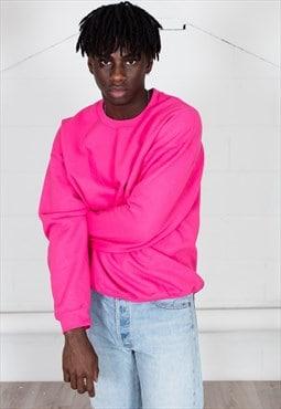 Cosmic Saint Mens Heliconia Pink Sweatshirt