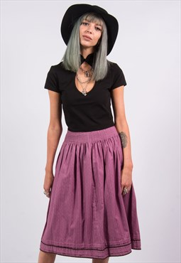 90's Vintage Purple Skirt