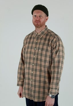 00s Burberry London beige nova check shirt