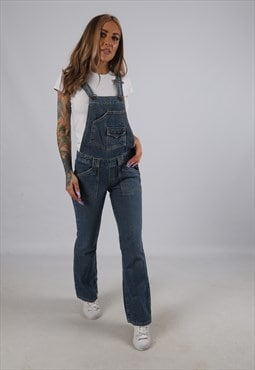 LEVIS Super Low Flare Denim Dungarees PETITE UK 6 - 8 (B1L)