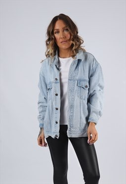 Denim Jacket Oversized Fitted SAVY JEANS UK 14  (G95G)