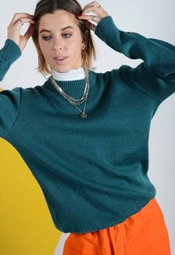 Vintage knitted jumper in green