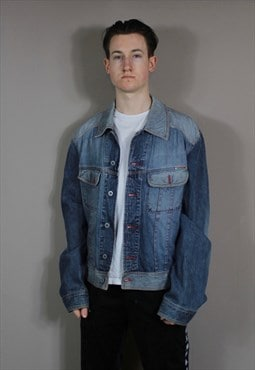 Vintage Dolce and Gabbana Denim Jacket in Blue with Pockets