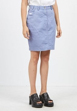 Vintage Blue TOGETHER Mini Pencil Denim Skirt