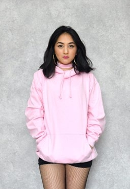 Light Baby Pink Cotton Ringspun Hoodie Jumper