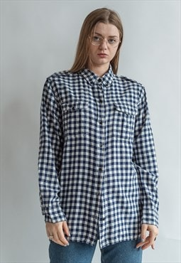 Vintage 90s checkered grunge shirt