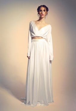 Wedding/ evenign skirt and top with long sleves, romantic