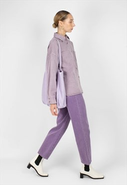 Washed violet mom jeans - 209