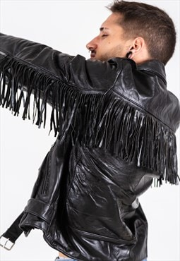 Vintage 80s Leather Jacket / S6933