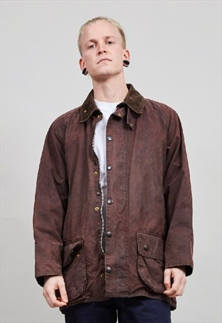 VINTAGE BROWN BARBOUR WAX JACKET