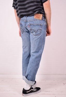 Levi's 501 Mens Vintage Jeans W33 L30 Blue 90s