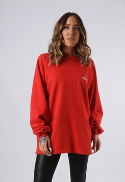 Vintage ADIDAS Sweatshirt Oversized Red UK 18 XXL (FA5A)