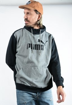 Vintage Puma Hoodie with Logo in Grey.