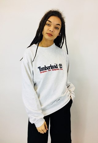VINTAGE TIMBERLAND EMBROIDERED SWEATSHIRT
