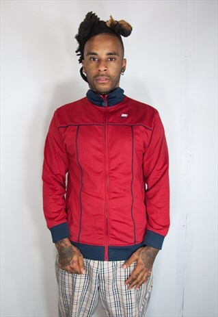 RED NIKE TRACKSUIT TOP