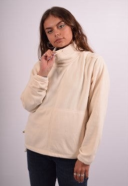 Vintage Adidas Fleece Jumper Beige